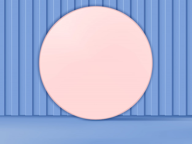 3d illustration pastel colors abstract studio shot product display background