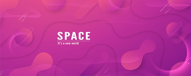 3d illustration template design in concept of space in the galaxy of the universe.