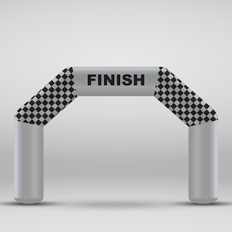 3d inflatable finish line arch.
