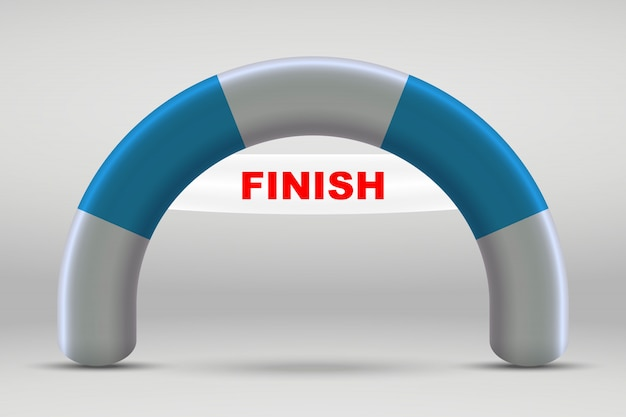 3d inflatable finish line arch