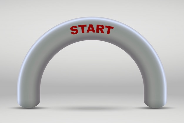 3d inflatable start line arch