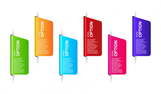 3d infographic banner design template vector