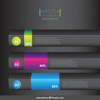 3d infographic bars