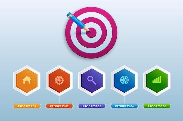 3d 인포 그래픽 디자인 템플릿 및 마케팅 아이콘