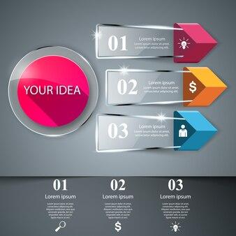 3d-инфографический шаблон дизайна и маркетинговые иконки.