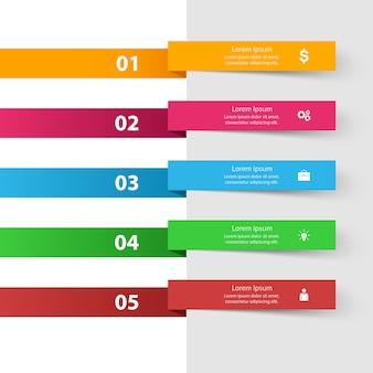 3 Dインフォグラフィックデザインテンプレートとマーケティングのアイコン