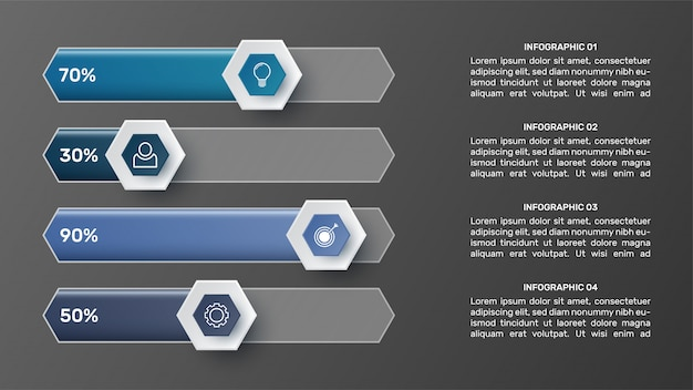 3d infographic template for presentation. business data visualization. abstract elements. creative concept for infographic.