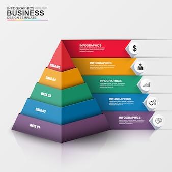 抽象的な3dデジタルビジネスinfographic