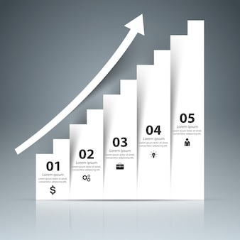 3dインフォグラフィックとビジネスのはしご