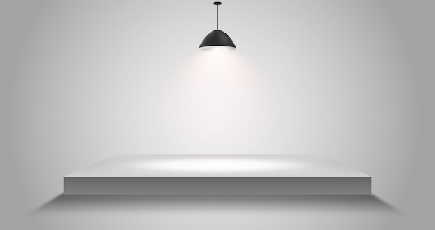 灰色の3 d分離空白い表彰台