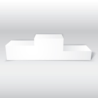 3d isolated realistic empty white podium for winners isolated vector illustration for your design or project