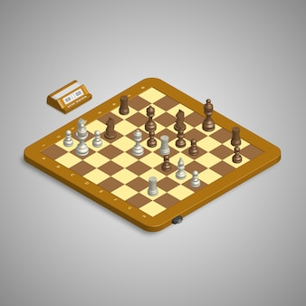 3d isometric chess and time