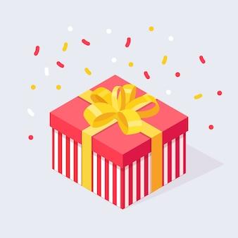 3d изометрическая подарочная коробка иллюстрация