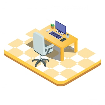 3d isometric isolated laptop ready to work
