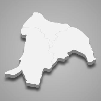 신주의 3d 아이소메트릭 지도는 대만의 한 지역입니다.