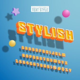 3d isometric perspective stylish cool youth pop colorful bright font text alphabet collection set