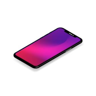 3d isometric phone template