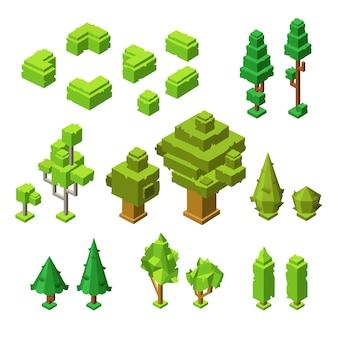 3d-изометрические деревья