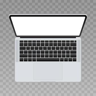 3d laptop top view  illustration