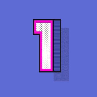 3d lettera 1 in stile mezzitoni