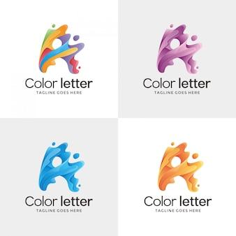 3d letter a contour logo design