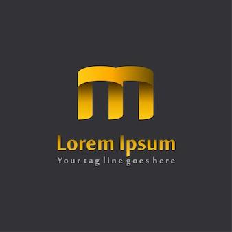 Дизайн логотипа 3d letter m