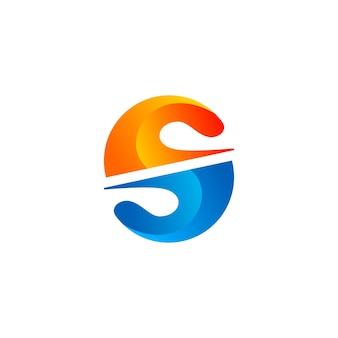 3d letter s logo design template
