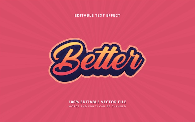 3d lettering retro text style editable words and fonts