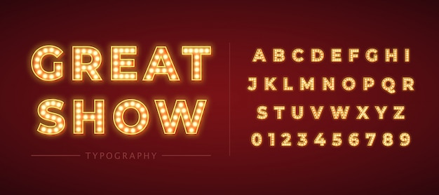 3d light bulb alphabet with red frame isolated on dark red