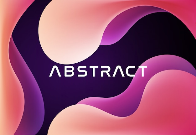 3d liquid abstract vector background
