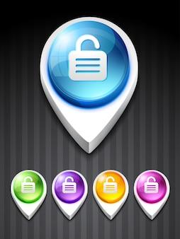 3d lock icon