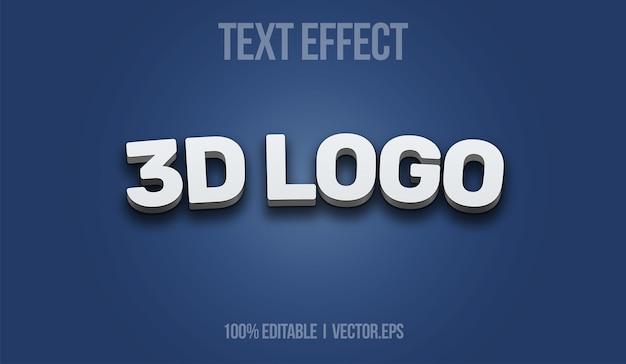 3d logo text effect editable