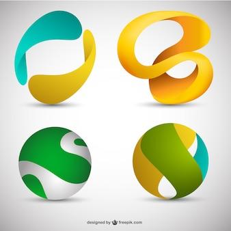 3d logos Free Vector