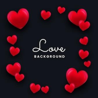 3d愛またはバレンタインデーの背景