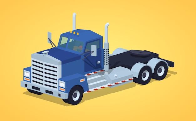 3d lowpoly isometric heavy truck