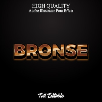 3d luxury bronse text style editable font effect