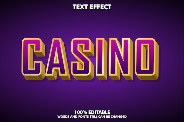 3d luxury gold text effect for casino banner or game