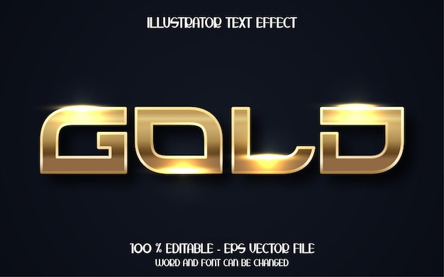 3d luxury gold text effect
