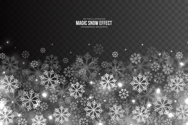 3d magic falling snow effect