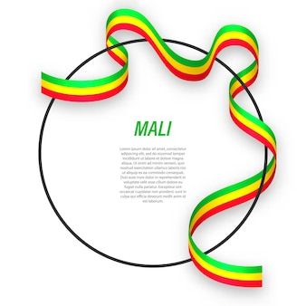 3d mali with national flag.