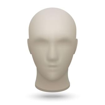 3d mannequin head Premium Vector