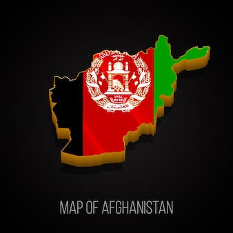 3d map of afghanistan