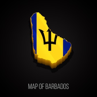 3d map of barbados
