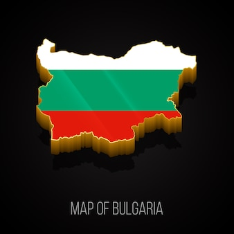 3d map of bulgaria