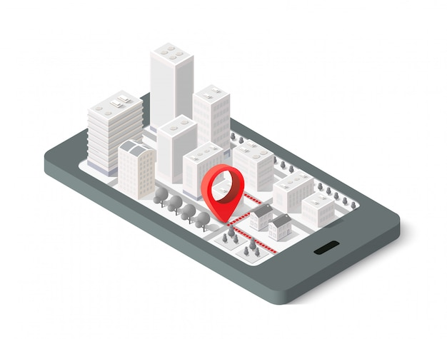 3d map isometric city
