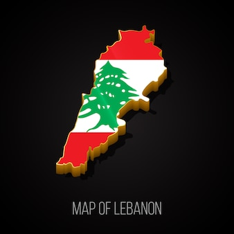 3d map of lebanon