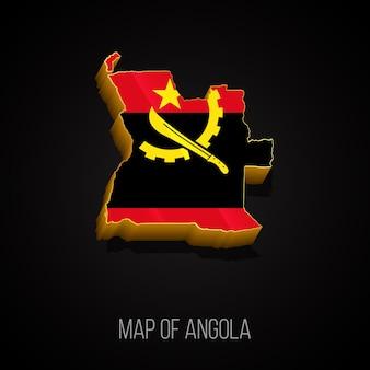 アンゴラの3dマップ