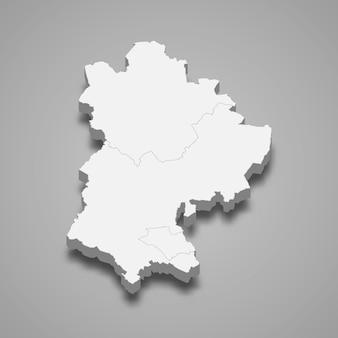 イギリスの図のベッドフォードシャー儀式郡の3 dマップ