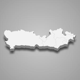 イギリスのイラストのバークシャー儀式郡の3 dマップ