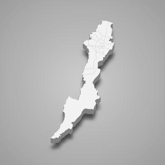 コロンビアの図のボゴタ部門の3 dマップ